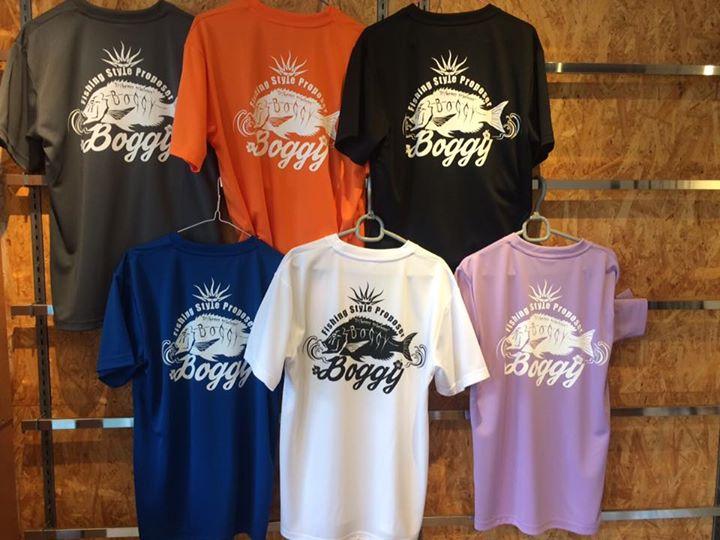 Boggy オリジナルドライTシャツ欠品しておりましたが再入荷しております。